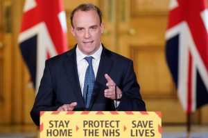 """Dominic Raab, the Foreign Secretary - """"We must continue to be guided by the science."""" Really?"""