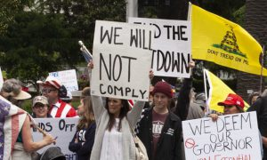 Sacramento protesters against coronavirus restrictions (Rich Pedroncelli_AP)
